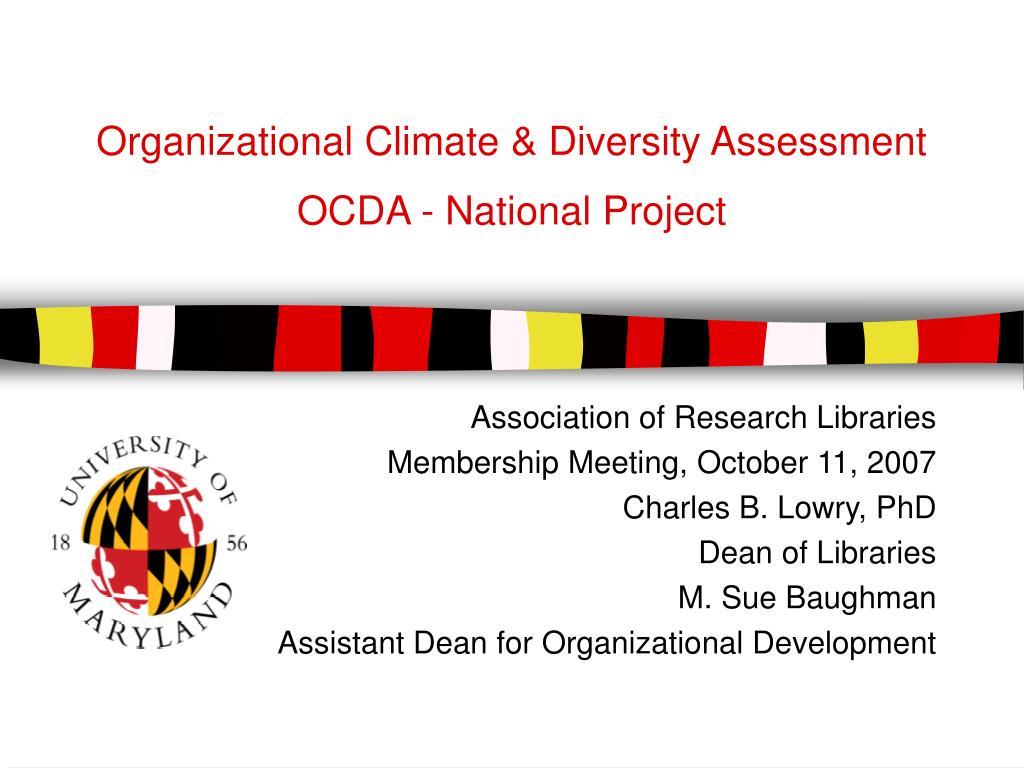 Organizational Climate & Diversity Assessment