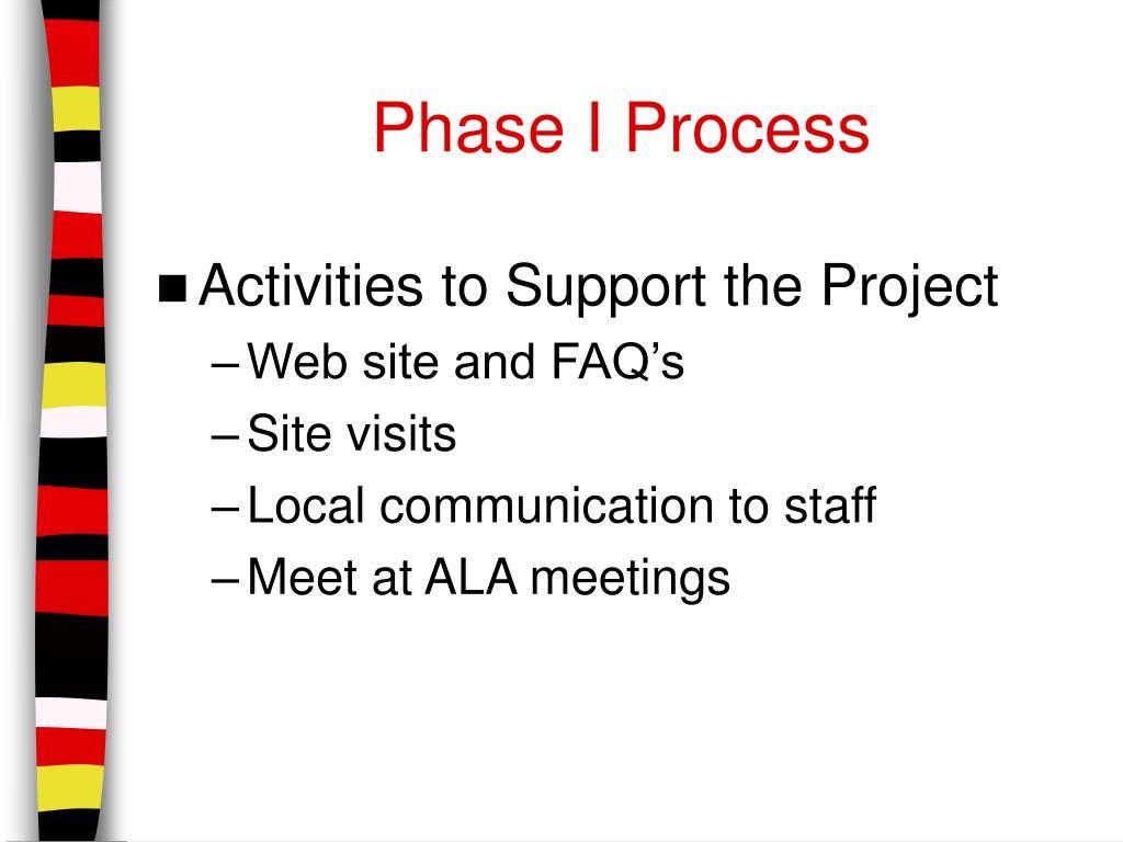 Phase I Process