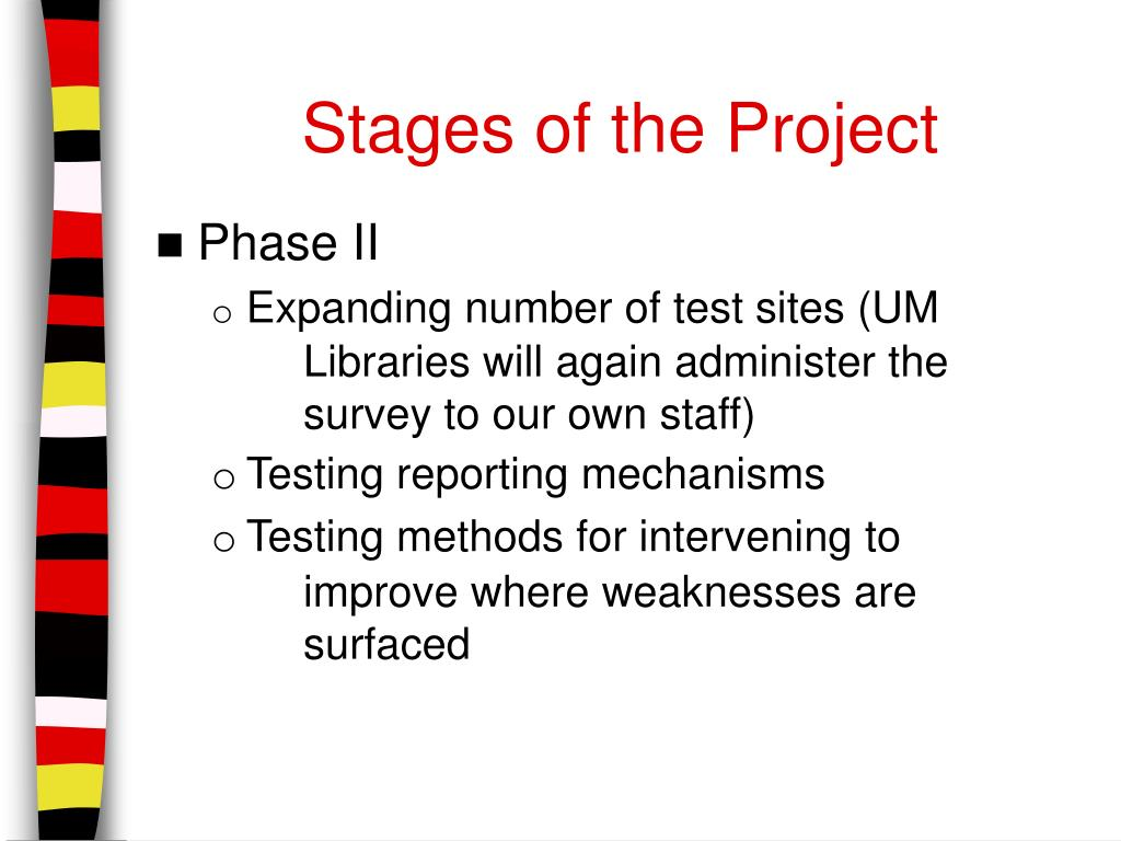 Stages of the Project