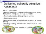 delivering culturally sensitive healthcare