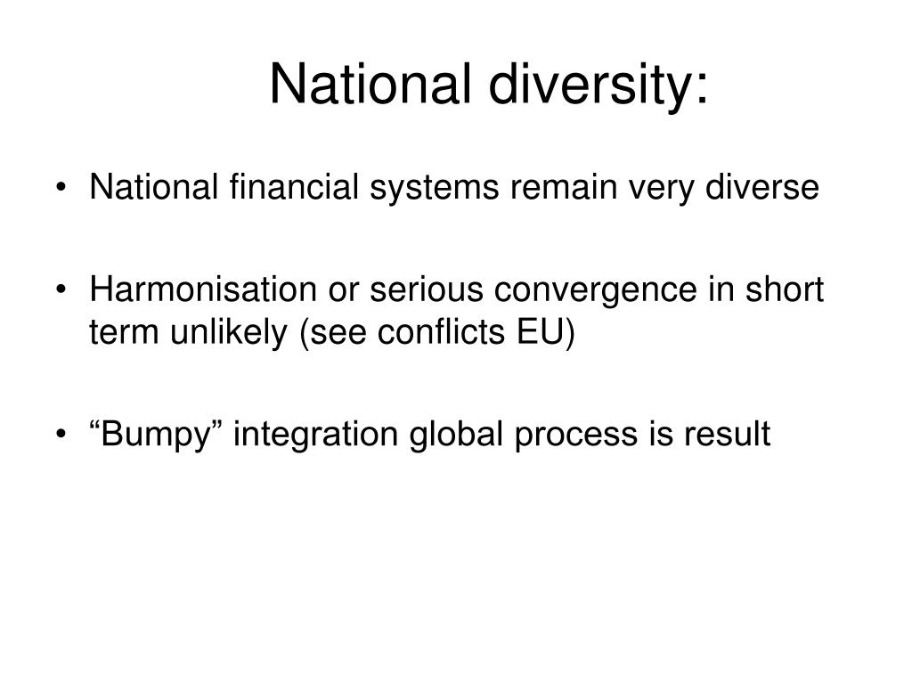 National diversity: