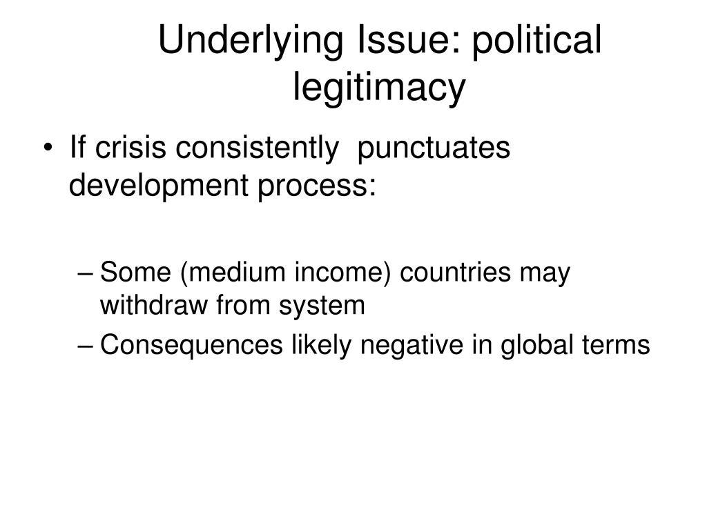 Underlying Issue: political legitimacy