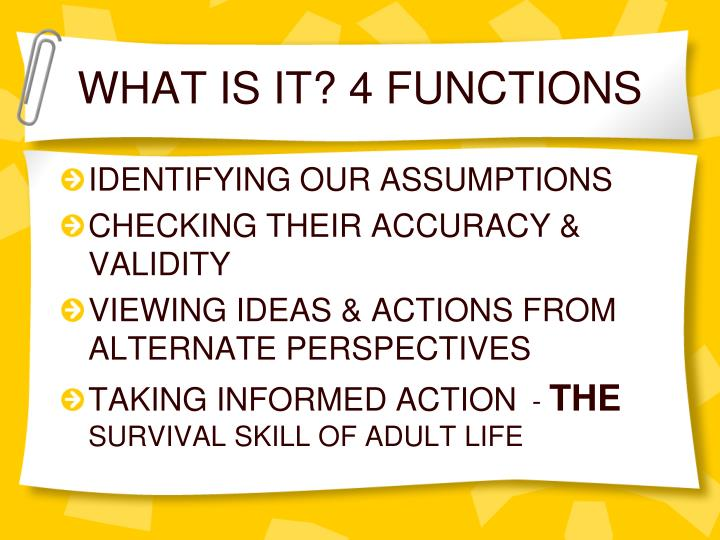 What is it 4 functions