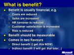 what is benefit