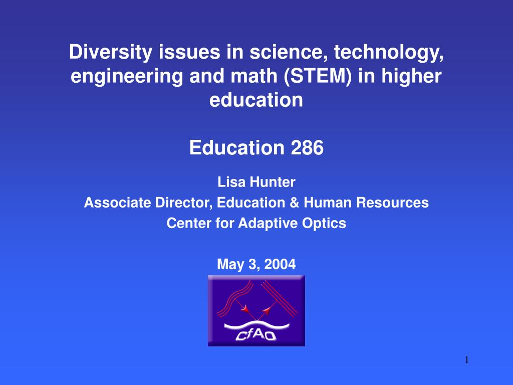 Diversity issues in science, technology, engineering and math (STEM) in higher education