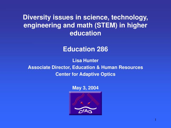 Diversity issues in science technology engineering and math stem in higher education education 286