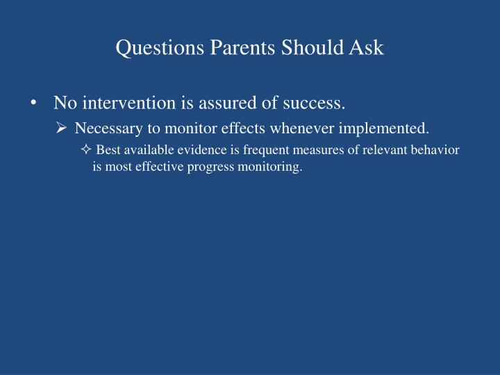 Questions Parents Should Ask