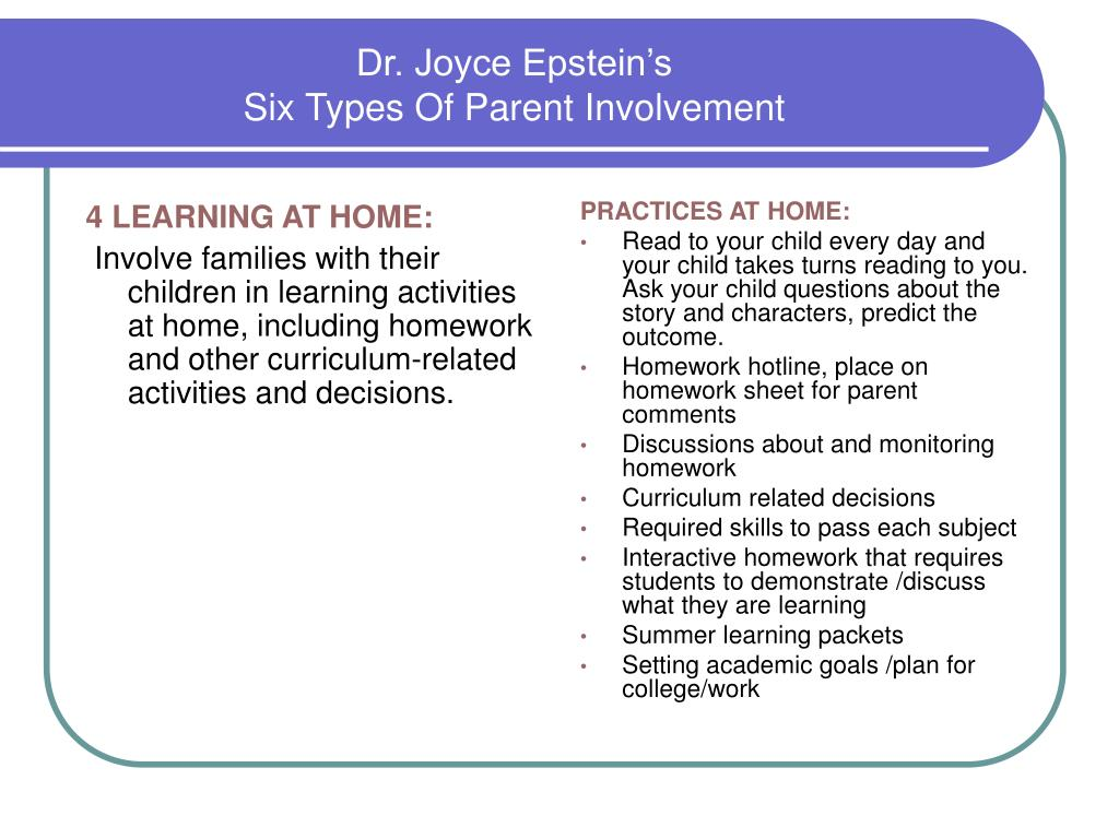 4 LEARNING AT HOME: