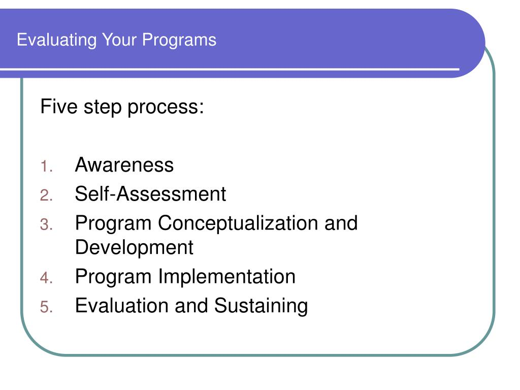 Evaluating Your Programs