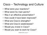 cisco technology and culture