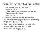 comparing two word frequency vectors10
