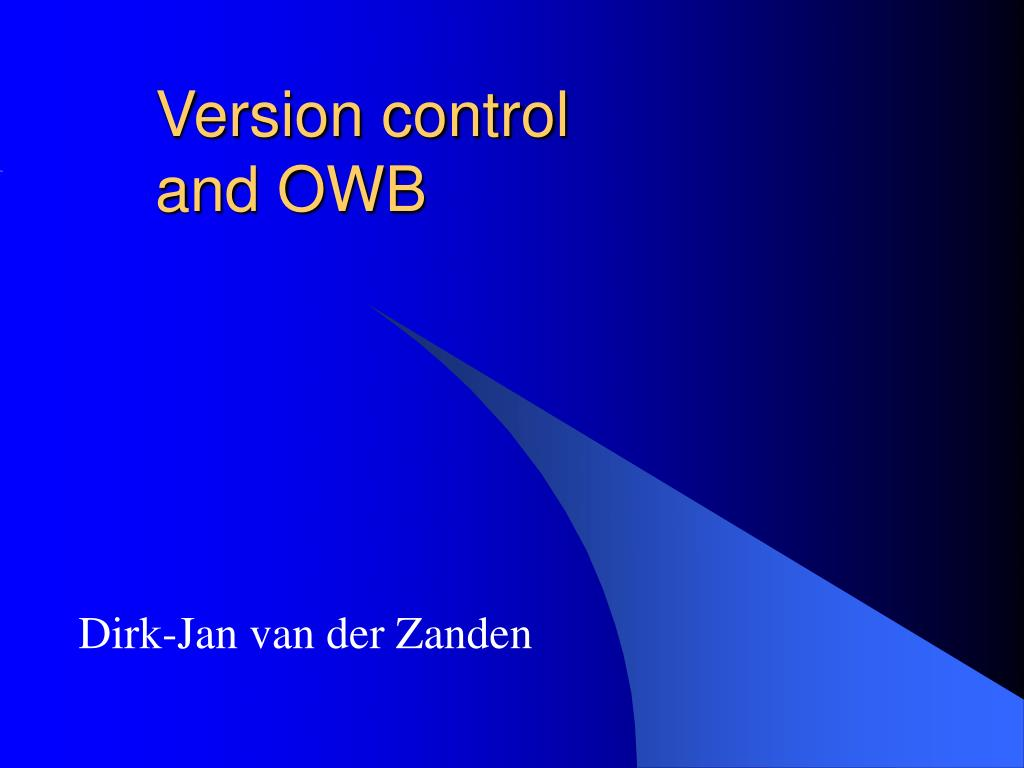 version control and owb l.