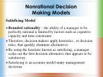 nonrational decision making models