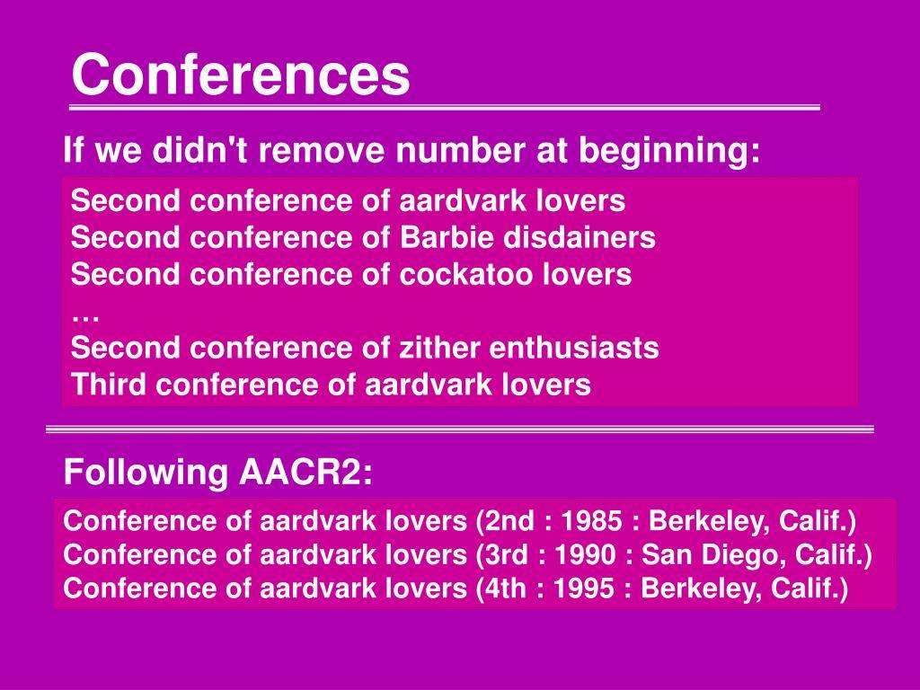 conferences l.