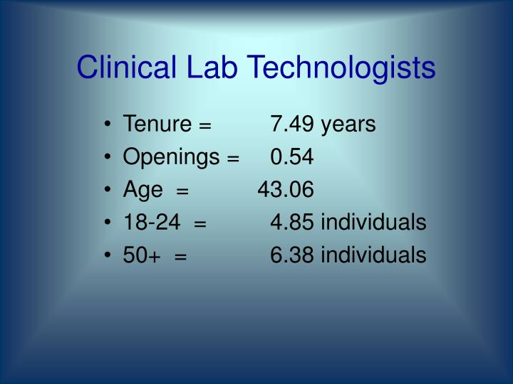 Clinical Lab Technologists