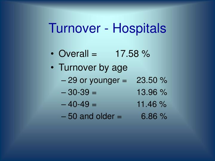 Turnover - Hospitals