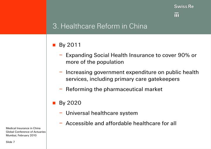3. Healthcare Reform in China