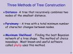 three methods of tree construction
