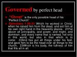 governed by perfect head2