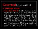 governed by perfect head3