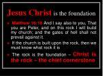 jesus christ is the foundation