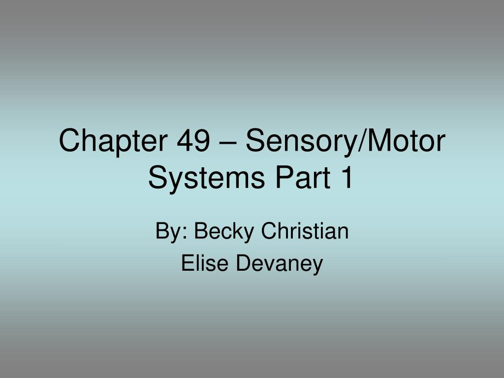 chapter 49 sensory motor systems part 1 l.