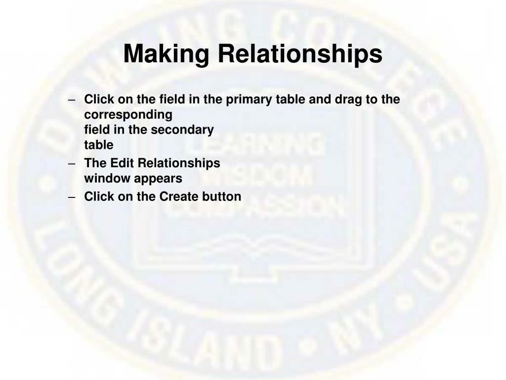 Making Relationships