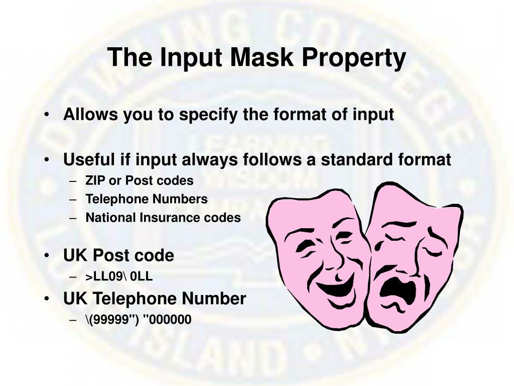 The Input Mask Property
