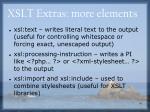 xslt extras more elements