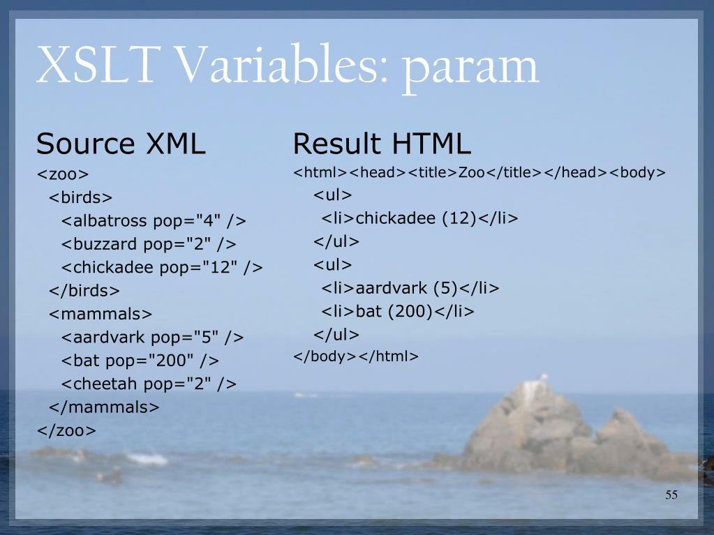 Source XML
