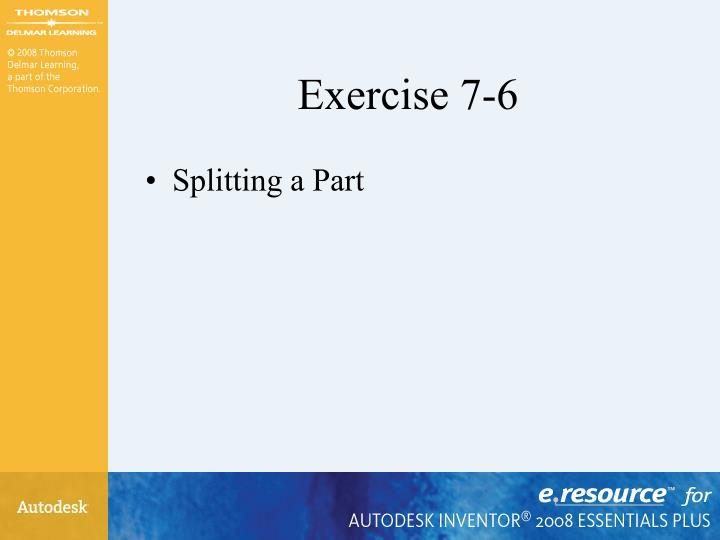 Exercise 7-6