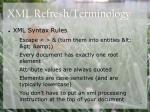 xml refresh terminology6