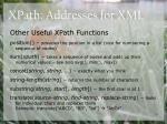 xpath addresses for xml31