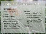 xpath addresses for xml36