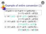 example of entire conversion 1