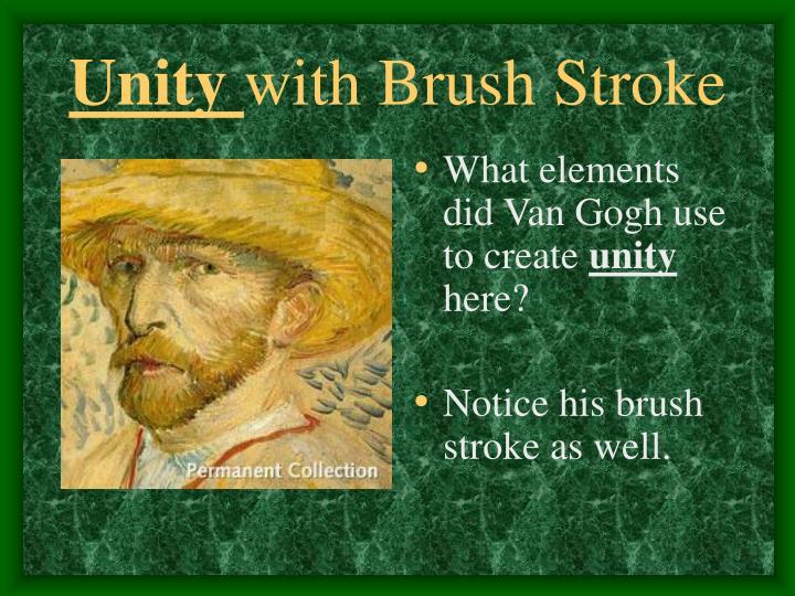 Unity with brush stroke