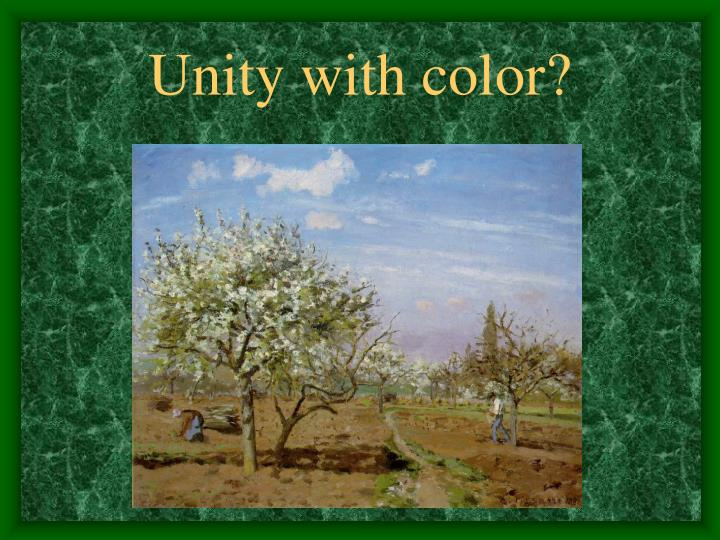 Unity with color?