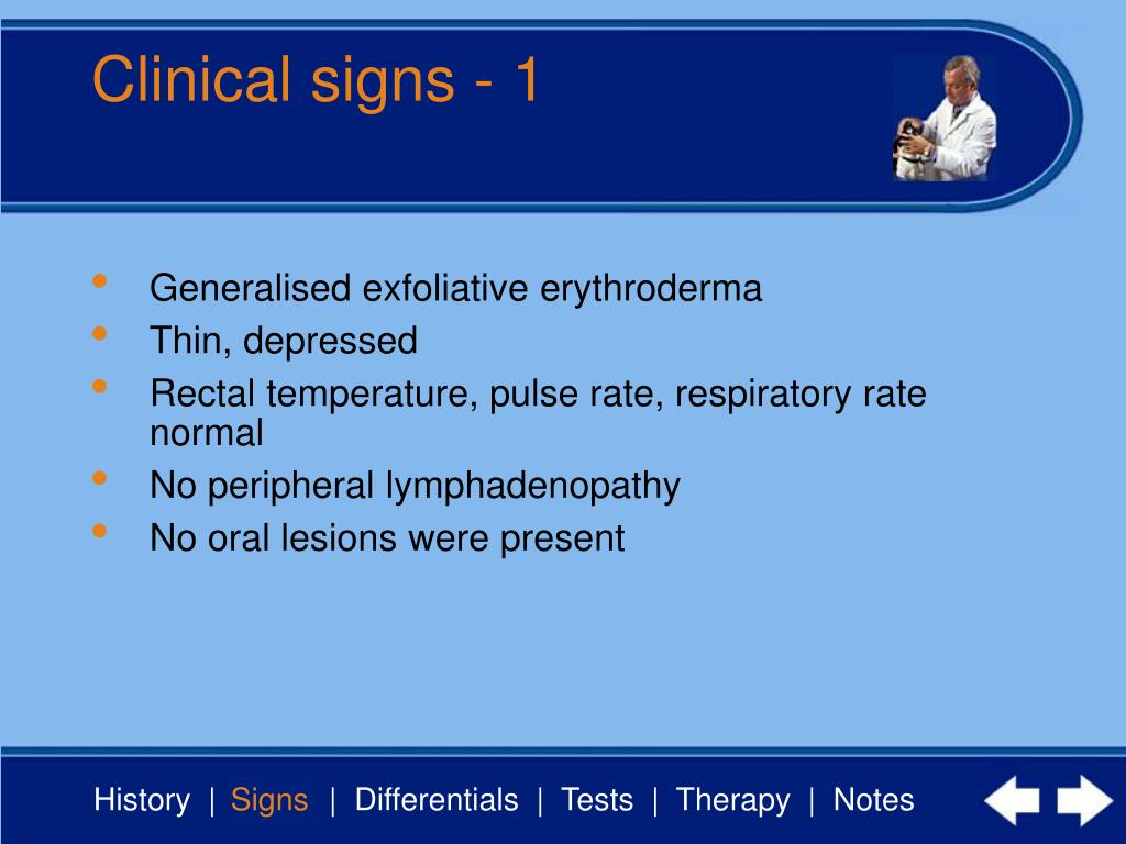 Clinical signs - 1