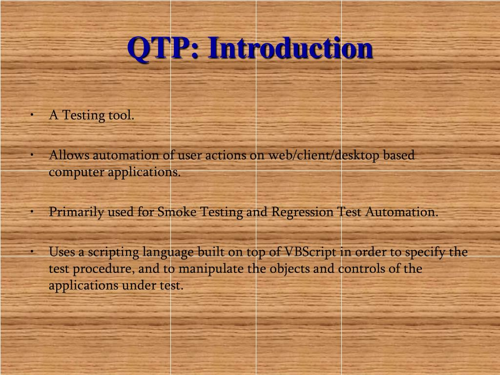 QTP: Introduction