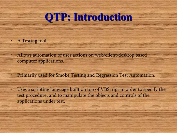 Qtp introduction