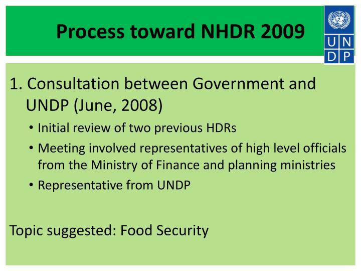 Process toward nhdr 2009