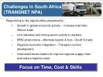 challenges in south africa transnet npa