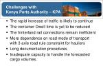 challenges with kenya ports authority kpa