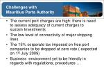 challenges with mauritius ports authority