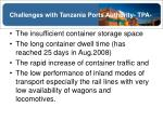 challenges with tanzania ports authority tpa