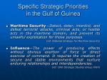 specific strategic priorities in the gulf of guinea