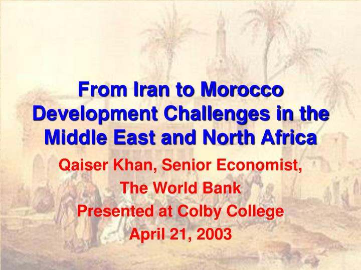 From iran to morocco development challenges in the middle east and north africa