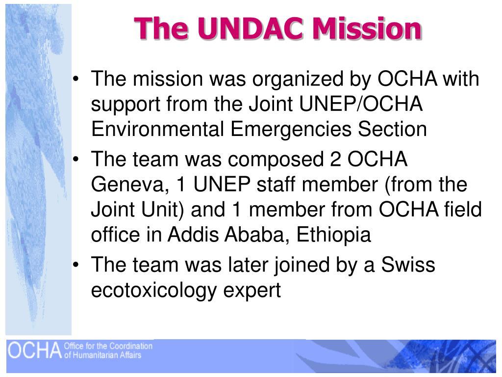 The UNDAC Mission