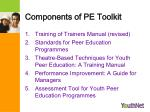 components of pe toolkit
