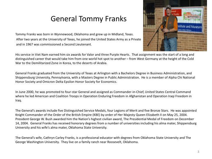 General tommy franks